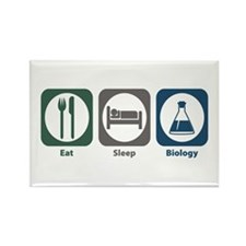 Eat Sleep Biology Rectangle Magnet (10 pack)