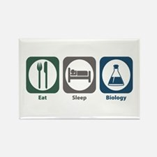 Eat Sleep Biology Rectangle Magnet