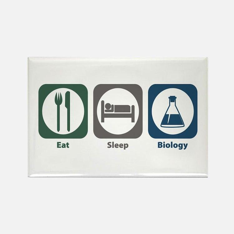 Eat Sleep Biology Rectangle Magnet