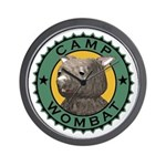 Camp Wombat Wall Clock