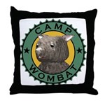 Camp Wombat Throw Pillow
