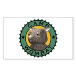 Camp Wombat Rectangle Sticker