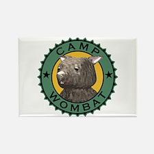 Camp Wombat Rectangle Magnet