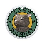 Camp Wombat Ornament (Round)