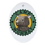 Camp Wombat Oval Ornament