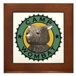 Camp Wombat Framed Tile