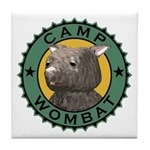 Camp Wombat Tile Coaster