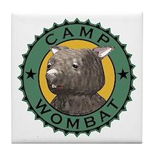 Camp Wombat Tile Coaster