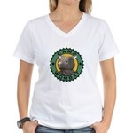 Camp Wombat Women's V-Neck T-Shirt