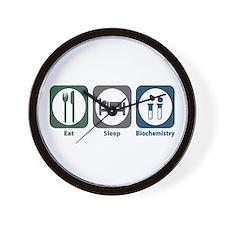 Eat Sleep Biochemistry Wall Clock