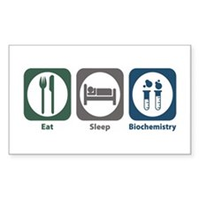 Eat Sleep Biochemistry Rectangle Decal