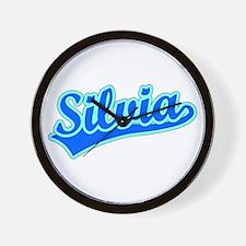 Retro Silvia (Blue) Wall Clock