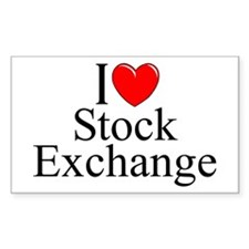 """I Love (Heart) Stock Exchange"" Decal"