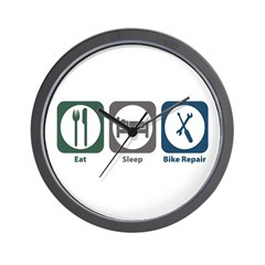 Eat Sleep Bike Repair Wall Clock