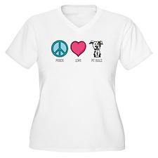 Peace Love & Pit Bulls T-Shirt