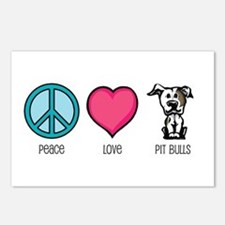 Peace Love & Pit Bulls Postcards (Package of 8