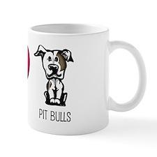 Peace Love & Pit Bulls Small Mugs