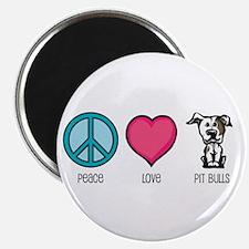 Peace Love & Pit Bulls Magnet