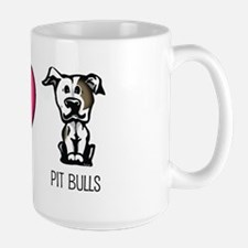 Peace Love & Pit Bulls Ceramic Mugs