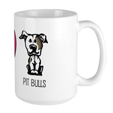 Peace Love & Pit Bulls Mug