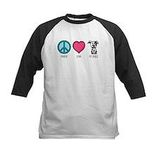 Peace Love & Pit Bulls Tee