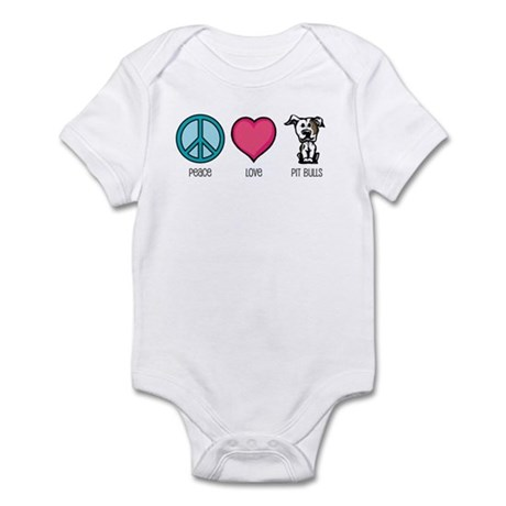 Peace Love & Pit Bulls Infant Bodysuit