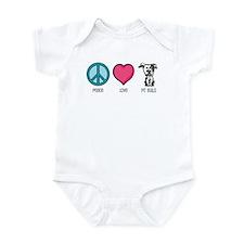 Peace Love & Pit Bulls Infant Bodysuit