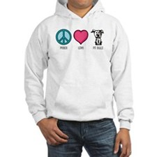Peace Love & Pit Bulls Hoodie