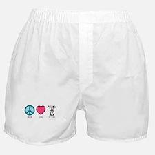 Peace Love & Pit Bulls Boxer Shorts