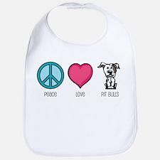 Peace Love & Pit Bulls Bib