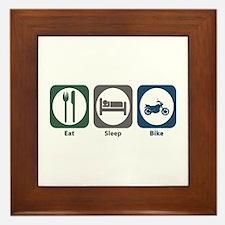 Eat Sleep Bike Framed Tile