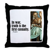 "Aeschylus ""In War"" Throw Pillow"