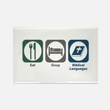 Eat Sleep Biblical Languages Rectangle Magnet