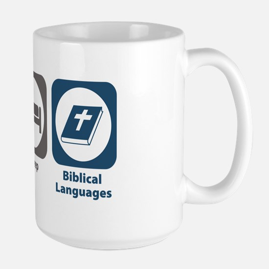 Eat Sleep Biblical Languages Large Mug