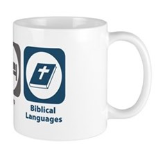 Eat Sleep Biblical Languages Mug