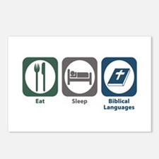 Eat Sleep Biblical Languages Postcards (Package of