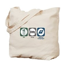 Eat Sleep Biblical Languages Tote Bag