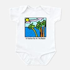 Tropical Beach Vacation T-shi Infant Bodysuit