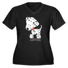 Dalmatian Lover Women's Plus Size V-Neck Dark T-Sh