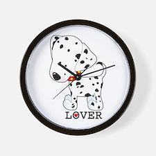 Dalmatian Lover Wall Clock