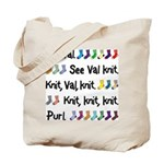 See Val Knit Tote Bag