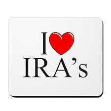 """I Love (Heart) IRA's"" Mousepad"