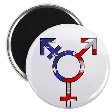 "One Nation Transsexual 2.25"" Magnet (100 pack)"