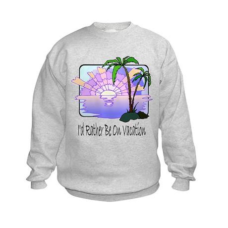 Tropical Beach Vacation T-shi Kids Sweatshirt