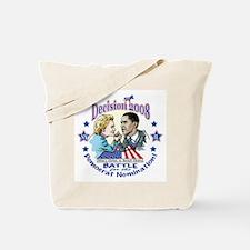 Hillary vs Obama 2008 Tote Bag