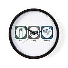 Eat Sleep Beauty Wall Clock