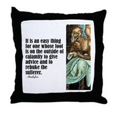 "Aeschylus ""Give Advice"" Throw Pillow"