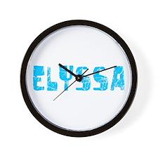 Elyssa Faded (Blue) Wall Clock