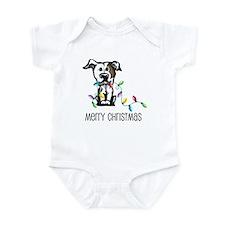 Pit Bull Christmas Lights Infant Bodysuit