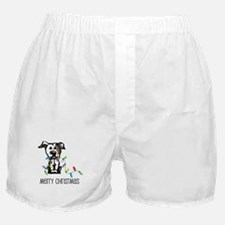 Pit Bull Christmas Lights Boxer Shorts